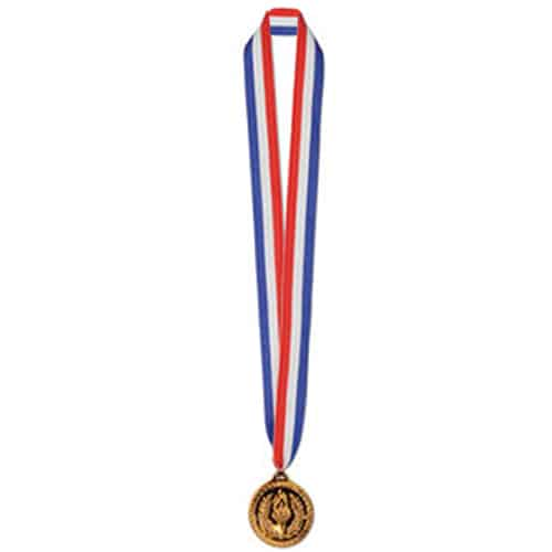 Bronze-Medaille am Bande 30 Zoll Lang - Packung mit 12