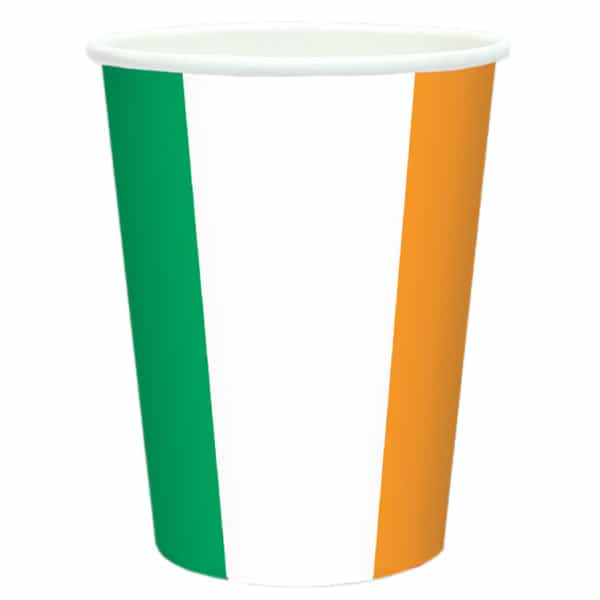 Irland Flagge Thema Pappbecher 266Ml
