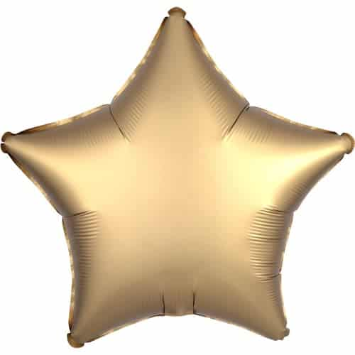 golden Satin Luxe Stern Helium Folienballon 48cm