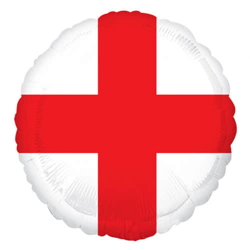 St. George''S Day England Flagge Runde Folie Helium Ballon 43Cm / 17Inch