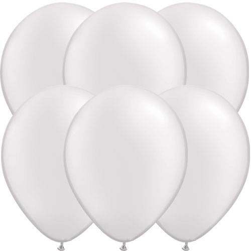Perlenweiße Runde Latex Qualatex Ballons 28Cm / 11 In - 10Er Pack