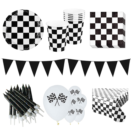 Rennthema 6 Personen Deluxe Party Pack