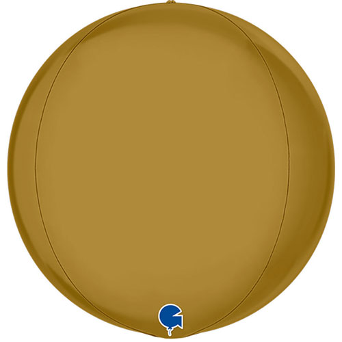 Satin Gold 4D Globus Folie Heliumballon 38Cm / 15 In